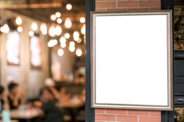 picture frame billboards in restaurant