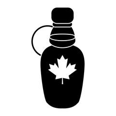 maple syrup bottle traditional pictogram vector illustration eps 10