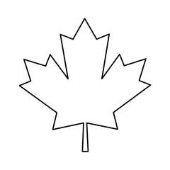 maple leaf green sign canadian outline vector illustration eps 10