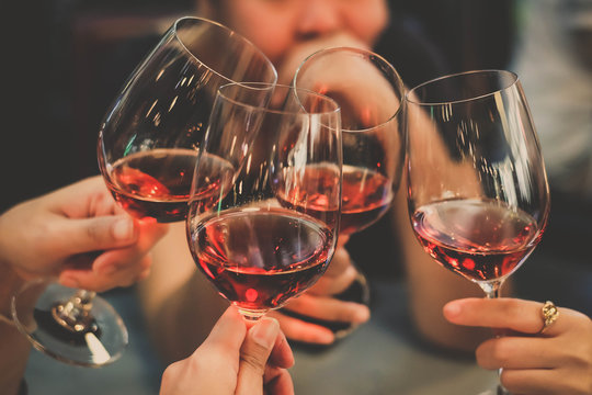 people cheering wine enjoy party to night business people party celebration success Concept