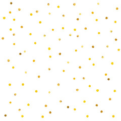 Abstract pattern of gold confetti