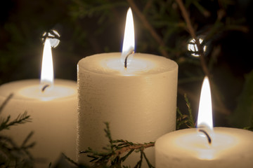 Three Holiday Candles