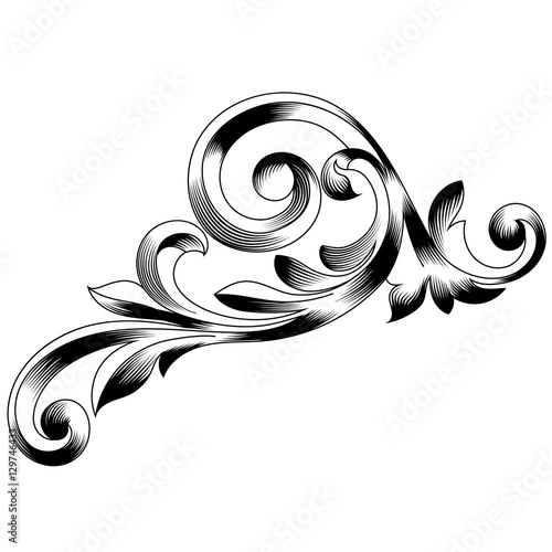 vintage baroque ornament retro pattern antique style acanthus rh fotolia com filigree vector brushes photoshop filigree vector images