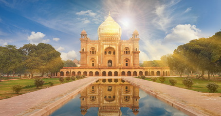 Fotomurales - Humayun Tomb New Delhi, India.