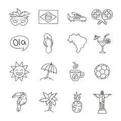 Set Brazilian icons. Vector