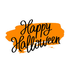 Happy Halloween. Trend calligraphy.