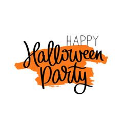 Happy Halloween party. Calligraphy