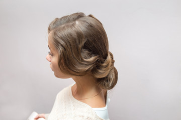 Retro Woman Hairstyle Rear view