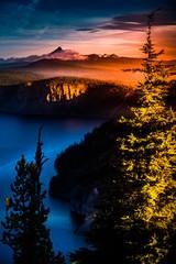 Mt Thielsen at Sunrise Oregon Landscape Vertical Composition