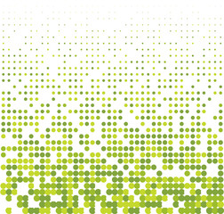 Seamless halftone background with green colors. Vector illustration