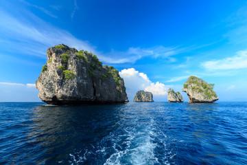 Rok island,Thailand seascape Rok island,Lanta island national pa
