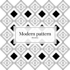 Vector Modern Pattern Line Retro Rhombus