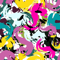 colored graffiti seamless texture