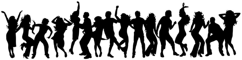 happy dancing people