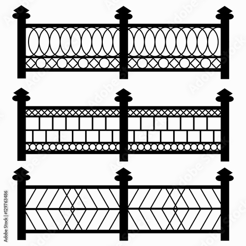 Fences Isolated Symbols Collection Stock Image And Royalty Free