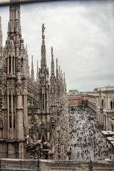 Milan overview from Duomo di Milano