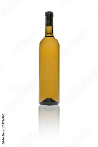 Empty bottle of wine in brown color on white background stock photo and royalty free images on - Empty colored wine bottles ...