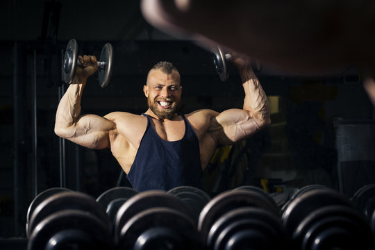 a strong male bodybuilder