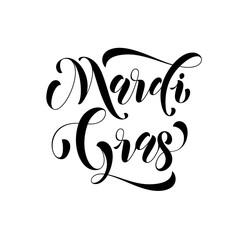 Mardi Gras carnival calligraphy lettering