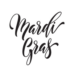 Mardi Gras calligraphy lettering for Fat Tuesday holiday carnival event