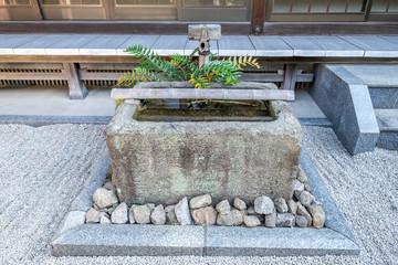 Japanese water basin