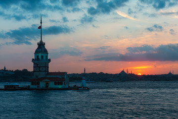 Maiden tower, symbol of Istanbul , Turkey, a famous historical monument