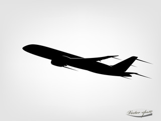 graphic design vector of airplane silhouette