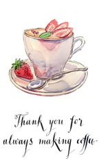 Thank you for always making coffee