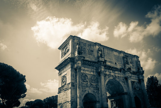Arch of Titus in Rome, Italy