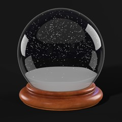 realistic 3d render of snow globe