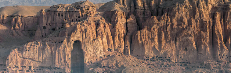 the giant buddhas of bamiyan - afghanistan