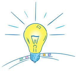 bulb and idea vector