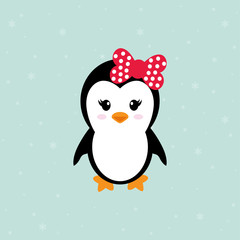 cute penguin girl