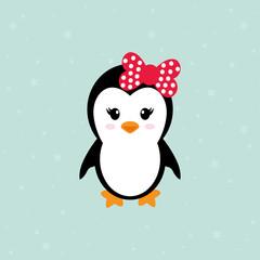 cute penguin girl