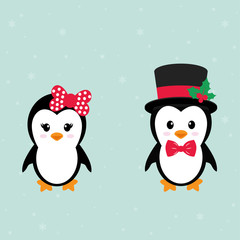 cute penguin set