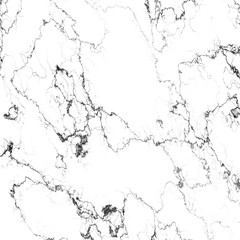 White marble with black veins, abstract background texture, digital illustration art work.