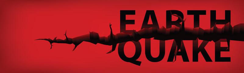 earthquake banner vector
