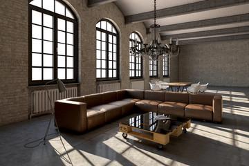 Loft, Fabrik, Lagerhaus, Interior, Modern, Design