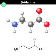 beta- Alanine molecular structure