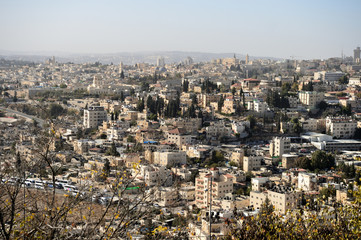View of Jerusalem in the early morning, Israel