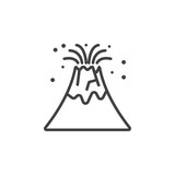 Volcano eruption line icon outline and filled vector sign linear volcano eruption line icon outline vector sign linear pictogram isolated on white logo pronofoot35fo Images