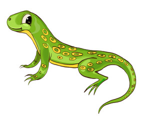 Lizard. Cute character. Cartoon style‰