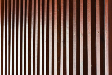 wooden lath wall