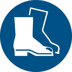 ISO 7010 M008 Wear safety footwear