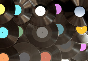 Analogue vinyl records background