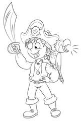 Vektor Illustration eines mutigen Piraten