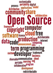 Open Source, word cloud concept 9