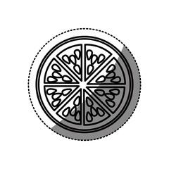 Orange icon. Organic healthy and fresh food theme. Isolated design. Vector illustration