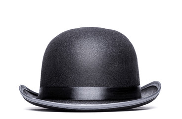 Bowler hat on a white background.Front view Wall mural