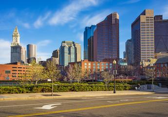 Financial District at North End Park at Boston USA